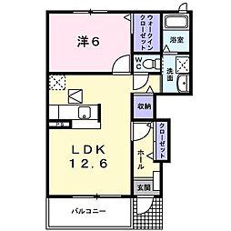 M.Kマンション VIII[0103号室]の間取り
