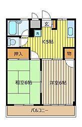 メゾンローリエ[3階]の間取り