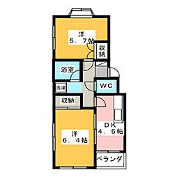 ロイヤルヒルズ南仙台[3階]の間取り