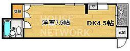 コーポ浄土寺[201号室号室]の間取り