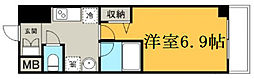 Osaka Metro千日前線 野田阪神駅 徒歩5分の賃貸マンション 4階1Kの間取り