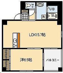 リージングマンションV[401号室]の間取り