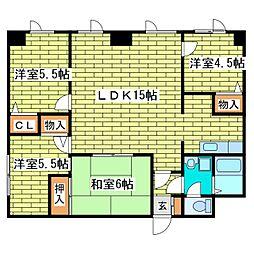 有楽メディカルビル[3階]の間取り