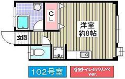昭和マンション[102号室]の間取り