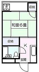 水嶋ハイツ[2階]の間取り