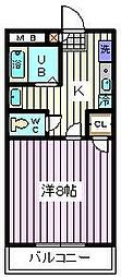 埼玉県さいたま市南区曲本2丁目の賃貸マンションの間取り