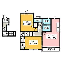 サフラン[2階]の間取り