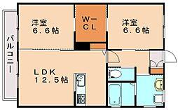 ヴァンベール綱分B[1階]の間取り