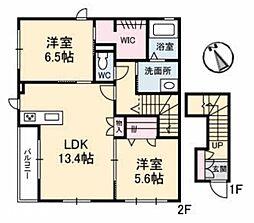 広島県広島市佐伯区八幡5丁目の賃貸アパートの間取り