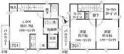 仮)大森北3丁目アパート bt[201kk号室]の間取り