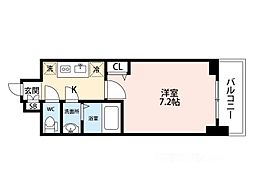ADVANCE 大阪 SORTE[509号室]の間取り