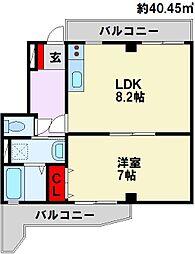 山王ビルIII[7階]の間取り