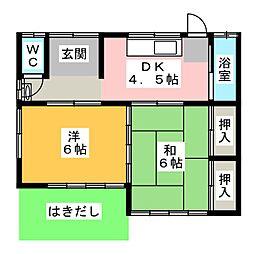 [一戸建] 静岡県焼津市焼津4丁目 の賃貸【/】の間取り