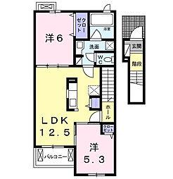 ブルーメン・シュトラーセ[2階]の間取り