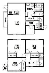 [一戸建] 石川県野々市市本町3丁目 の賃貸【/】の間取り