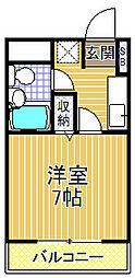 ライオンズマンション大正[4階]の間取り