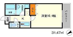 大阪府豊中市桜の町4丁目の賃貸アパートの間取り