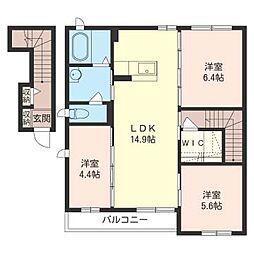 オーガスタ[2階]の間取り