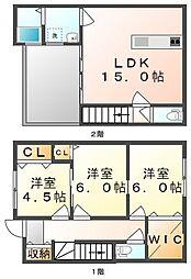 [テラスハウス] 香川県高松市高松町 の賃貸【/】の間取り