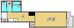 オーバルコート立花[2階]の間取り