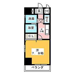 グランツ昭和館[9階]の間取り
