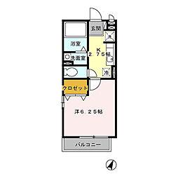D-roomエクセルアベニュー[2階]の間取り