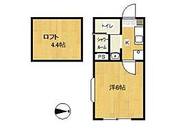ロッシェル富士見II2号棟[1階]の間取り
