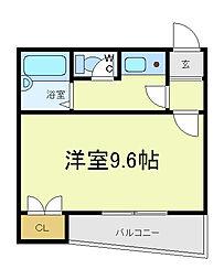 フレグランス阿倍野[3階]の間取り
