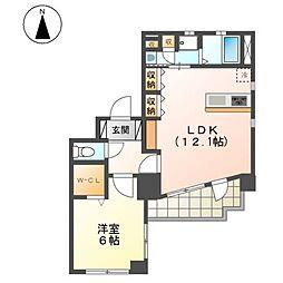 愛知県名古屋市北区紅雲町の賃貸マンションの間取り