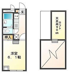 兵庫県高砂市高砂町南浜町の賃貸アパートの間取り