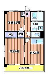 中村コーポラス[1階]の間取り