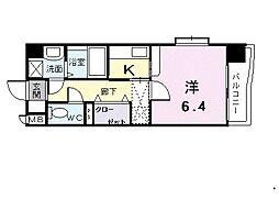 クリアネス賀茂[1階]の間取り
