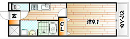 Crecia M(クレシア エム)[2階]の間取り