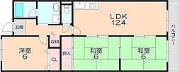 ジョイフルライフ泉丘 5階3LDKの間取り