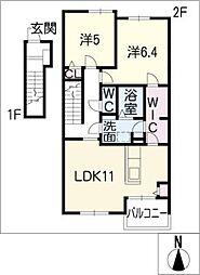 ベル・グラース D[2階]の間取り