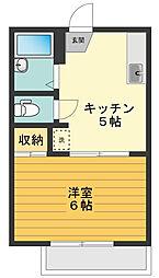 東京都武蔵村山市学園3丁目の賃貸アパートの間取り