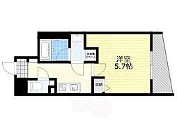 恵比寿YKマンション 5階1Kの間取り