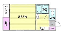 スペースイン21[4階]の間取り