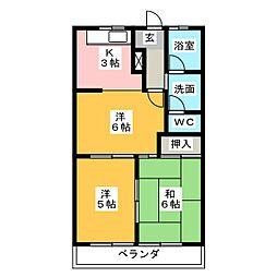 エクセレントパーク[1階]の間取り