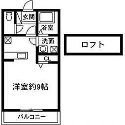 第二ミナミビル[205号室]の間取り