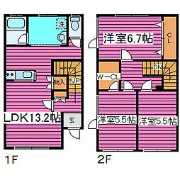 [テラスハウス] 北海道札幌市東区東雁来十一条2丁目 の賃貸【/】の間取り