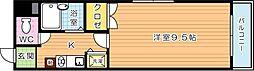 ダイナコートピア黒崎[4階]の間取り