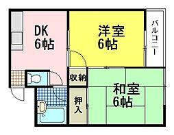 椿本ビル[2階]の間取り