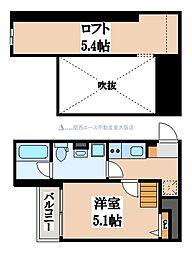 Valenti小阪[1階]の間取り