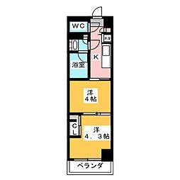 ガーラ・グランディ川崎西口 5階2Kの間取り