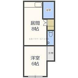 北海道札幌市北区北二十条西2丁目の賃貸マンションの間取り
