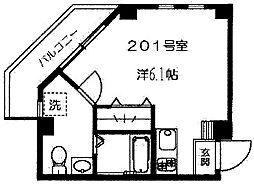 東京都杉並区下高井戸4丁目の賃貸マンションの間取り
