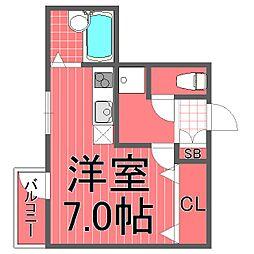 ビーカーサ鶴見[4階]の間取り