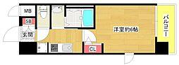 エステムコート難波WEST-SIDEVIIグローブ[6階]の間取り