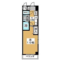ザ・ロイヤルトップ名駅西[7階]の間取り